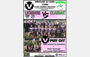 LIONNES XIII VS CLAIRAC XIII
